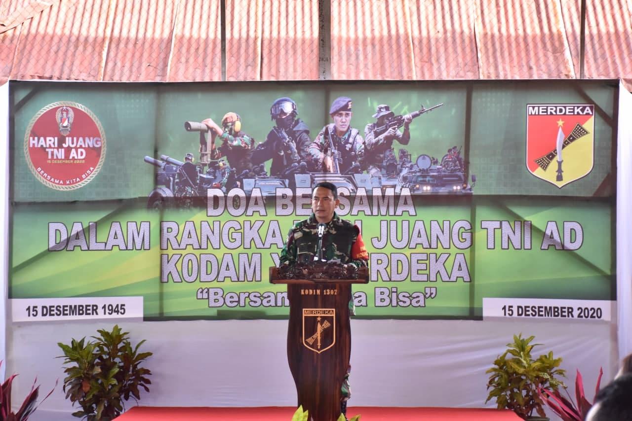 Peringati Hari Juang TNI-AD, Pangdam XIII/Mdk Gelar Doa Bersama di Kodim 1307/Poso
