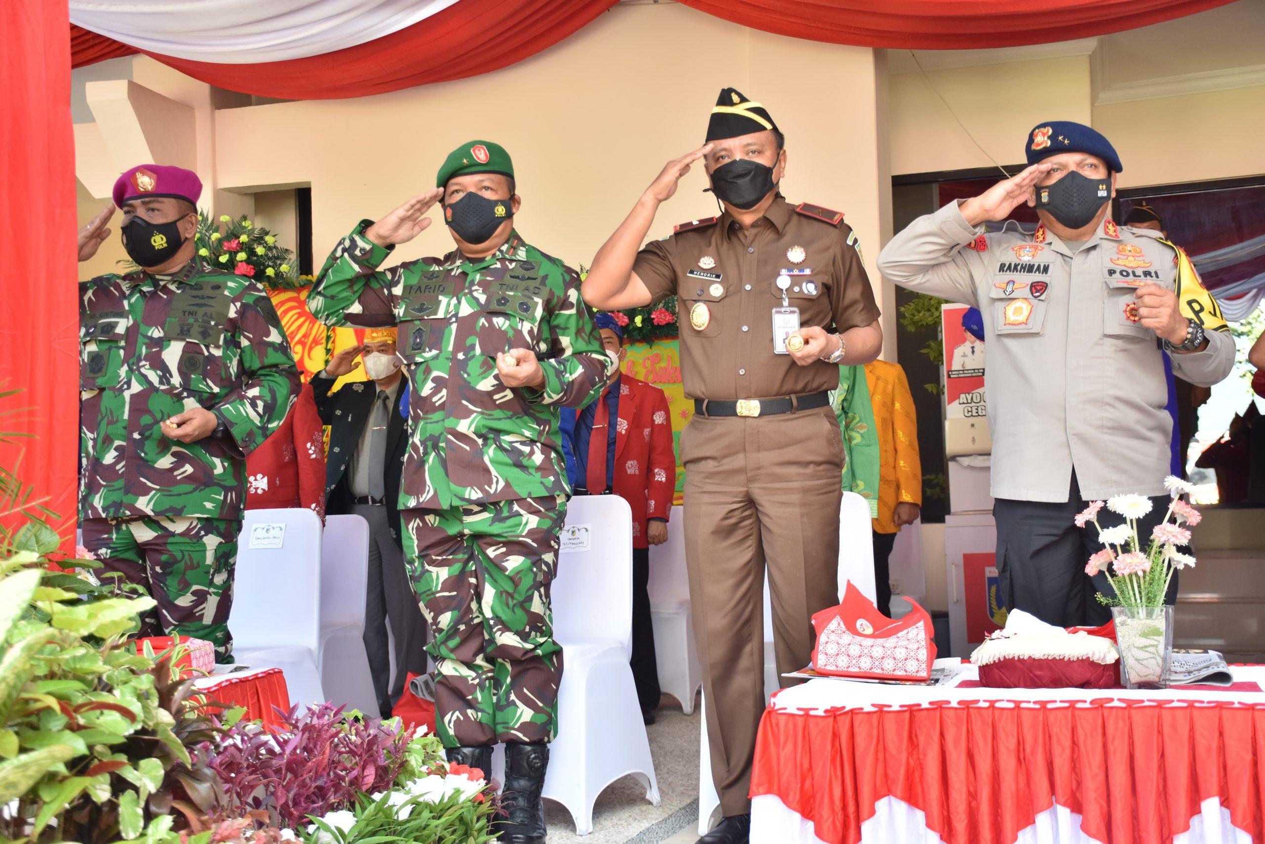 Danrem 132/Tadulako Hadiri Upacara Peringatan Hut Ke-57 Provinsi Sulawesi Tengah Tahun 2021